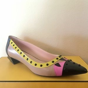 Fendi Shoes - FENDI Absolutely Gorgeous Pointy Toe Multi Color